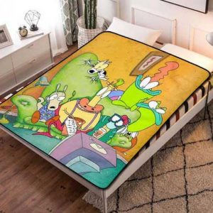 Rocko's Modern Characters Life Fleece Blanket Throw Quilt