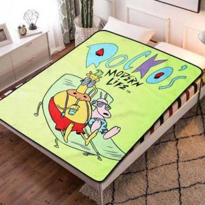 Rocko's Modern Life Fleece Blanket Throw Quilt