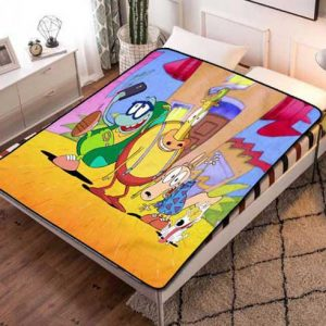 Rocko's Modern Life Cartoon Fleece Blanket Throw Bed Set