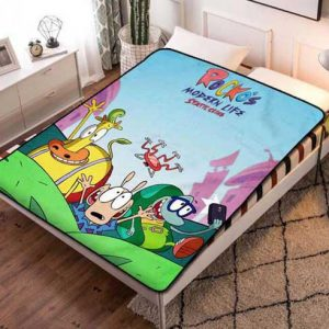 Rocko's Modern Poster Life Fleece Blanket Throw Quilt
