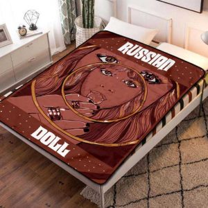 Russian Doll Fleece Blanket Throw Bed Set