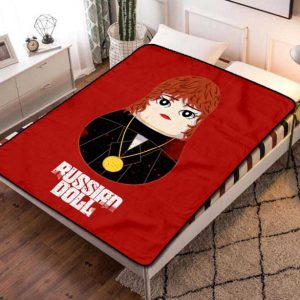 Russian Doll TV Shows Fleece Blanket Throw Bed Set