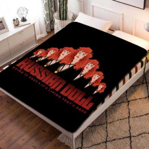 Russian Doll Series Fleece Blanket Throw Bed Set
