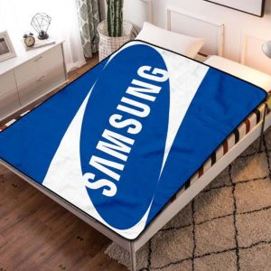 Samsung Symbol Fleece Blanket Throw Bed Set