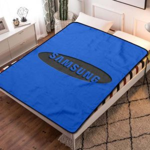 Samsung Logo Fleece Blanket Throw Bed Set