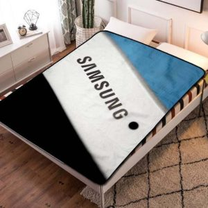 Samsung Wallpaper Fleece Blanket Throw Bed Set