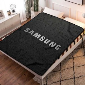 Samsung Logo Fleece Blanket Throw Quilt