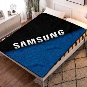 Samsung Dark Logo Fleece Blanket Throw Quilt