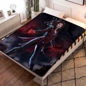 The Scarlet Witch Comic Fleece Blanket Throw Quilt