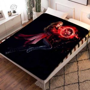 Scarlet Witch Fleece Blanket Throw Bed Set