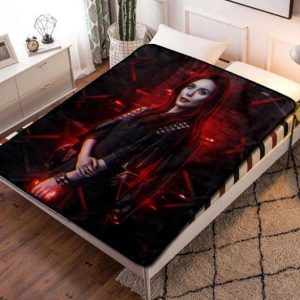The Scarlet Witch Wanda Maximoff Fleece Blanket Throw Quilt