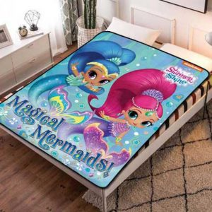 Shimmer and Shine Magical Mermaid Fleece Blanket Throw Quilt