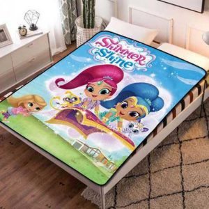 Shimmer and Shine Characters Fleece Blanket Throw Bed Set