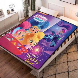 Shimmer and Shine Wishing Star Fleece Blanket Throw Quilt
