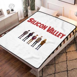Silicon Valley Characters TV Series Fleece Blanket Throw Bed Set