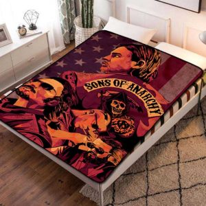 Sons of Anarchy Fleece Blanket Throw Bed Set