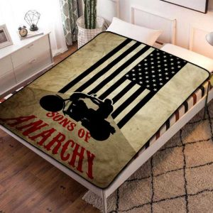Sons of Anarchy TV Shows Fleece Blanket Throw Bed Set