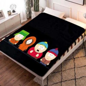 South Park Characters Fleece Blanket Throw Quilt
