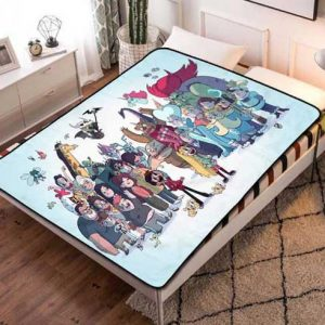 Star vs the Forces of Evil Characters Fleece Blanket Throw Bed Set