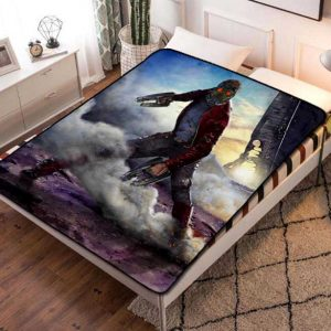 Star Lord Guardian Of The Galaxy Fleece Blanket Throw Quilt