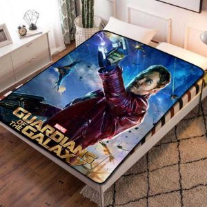 Star Lord Guardian Of The Galaxy Fleece Blanket Throw Bed Set