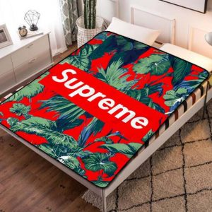 Supreme Graffiti Logo Quilt Blanket Fleece Throw