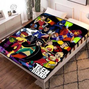 Teen Titans Characters Fleece Blanket Throw Quilt