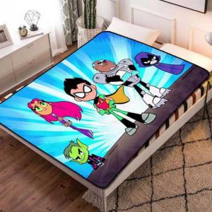 Teen Titans Cartoon Fleece Blanket Throw Quilt