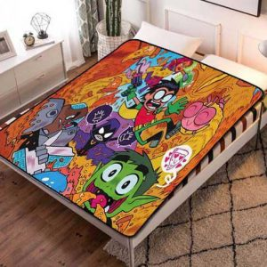 Teen Titans Cartoon Fleece Blanket Throw Bed Set