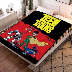 Teen Titans Kids Fleece Blanket Throw Bed Set