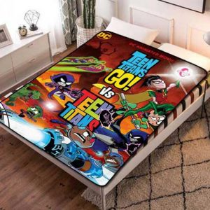 Teen Titans Wallpaper Fleece Blanket Throw Bed Set