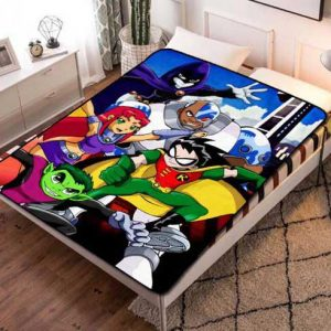 Teen Titans Design Fleece Blanket Throw Bed Set