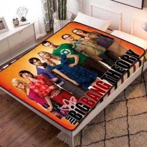 The Big Bang Theory Cast TV Series Quilt Blanket Fleece Bed Set