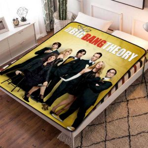 The Big Bang Theory Cast TV Shows Fleece Blanket Throw Bed Set