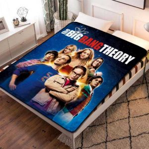 The Big Bang Theory Poster TV Series Quilt Blanket Throw Fleece