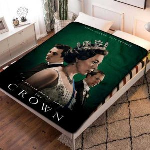 The Crown Cast TV Series Fleece Blanket Throw Bed Set