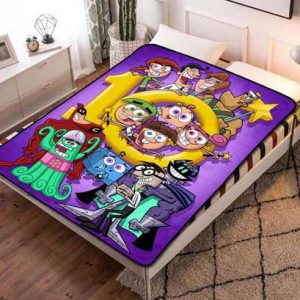 The Fairly OddParents Fleece Blanket Throw Quilt
