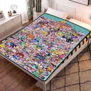 The Fairly OddParents Fleece Blanket Throw Bed Set