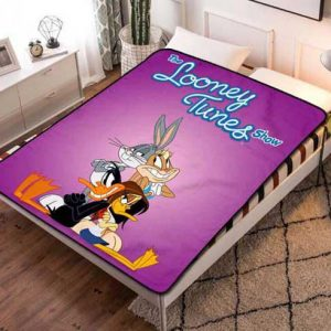 Looney Tunes Characters Fleece Blanket Throw Bed Set