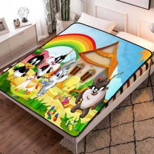 Looney Tunes Kids Fleece Blanket Throw Bed Set