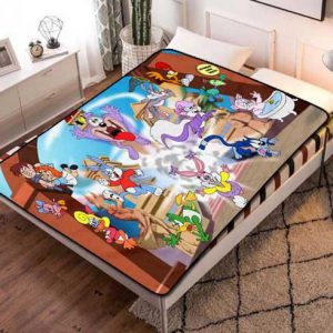 Looney Tunes Cartoon Fleece Blanket Throw Quilt