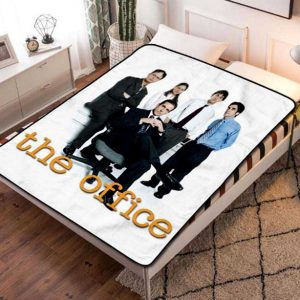 The Office Fleece Blanket Throw Bed Set