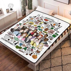 The Office Characters Fleece Blanket Throw Bed Set