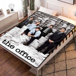 The Office Series Fleece Blanket Throw Quilt