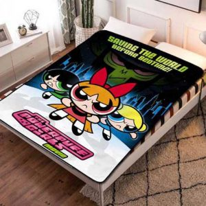 The Powerpuff Girls Characters Fleece Blanket Throw Quilt