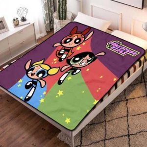 The Powerpuff Girls Kids Fleece Blanket Throw Quilt