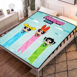 The Powerpuff Girls Characters Fleece Blanket Throw Bed Set