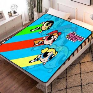 The Powerpuff Girls Wallpaper Fleece Blanket Throw Bed Set