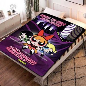 The Powerpuff Girls Style Fleece Blanket Throw Bed Set