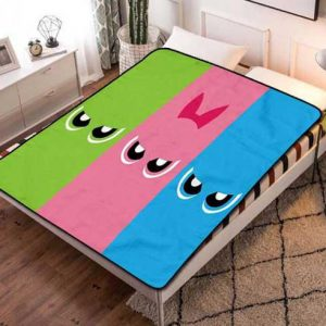 The Powerpuff Girls Cartoon Fleece Blanket Throw Bed Set